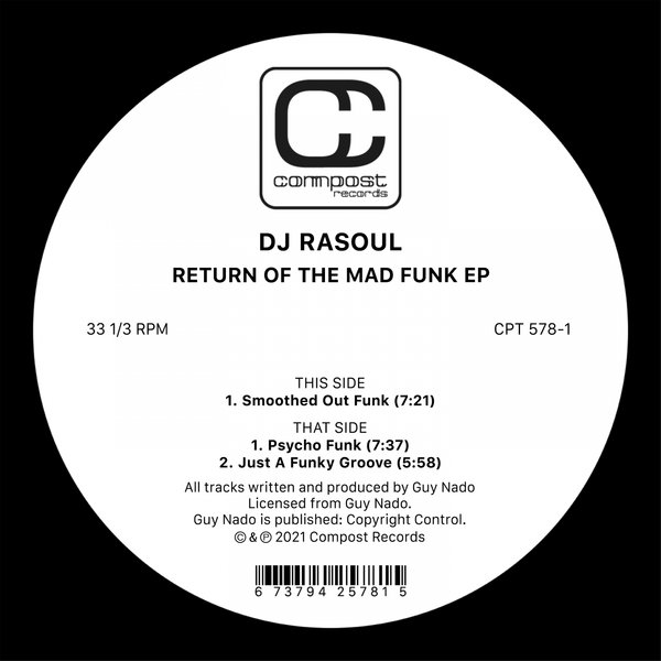 DJ Rasoul – Return of the Mad Funk EP [Compost]
