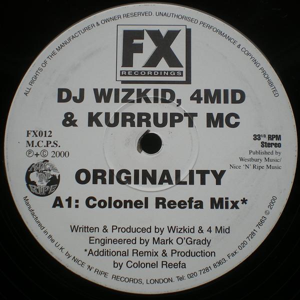 DJ Wizkid, 4Mid & Kurrupt MC - Originality on Traxsource