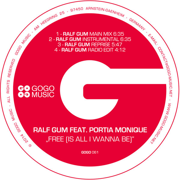 Ralf GUM feat  Portia Monique - Free (Is All I Wanna Be) on