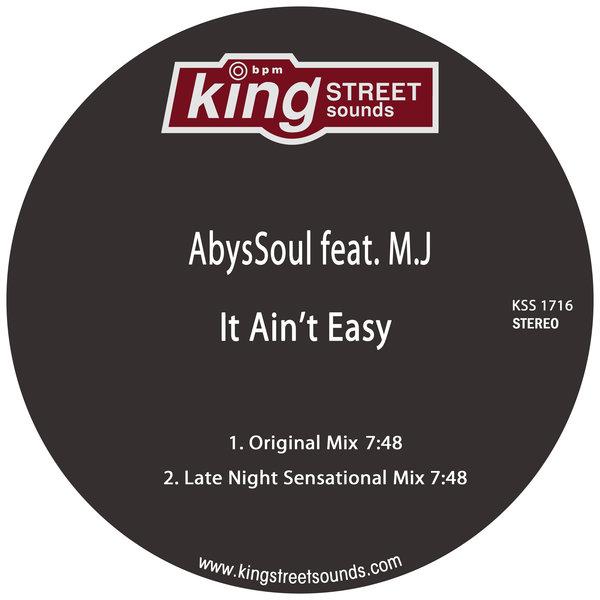 AbysSoul, M.J - It Ain't Easy (Original Mix)